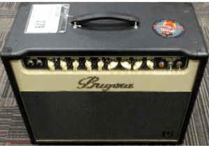 image of a black and cream colored amplifier